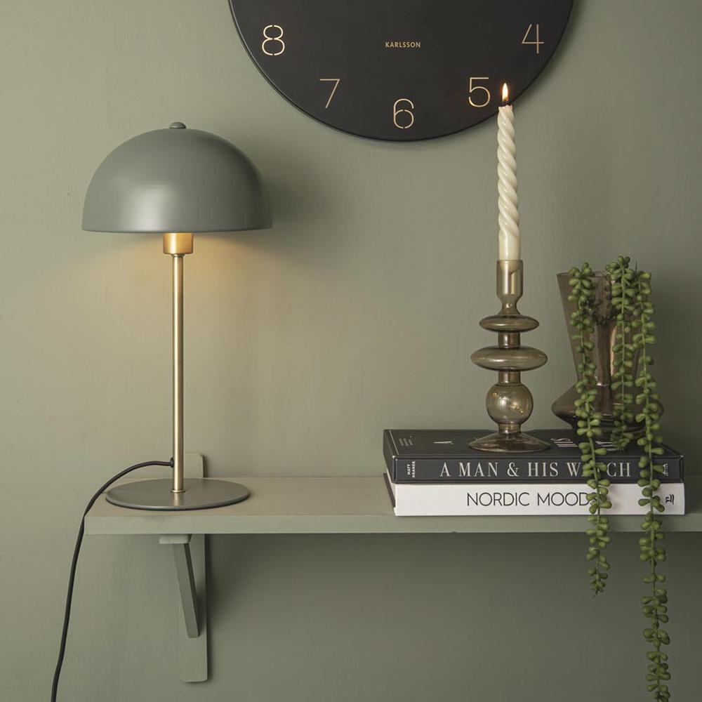 Lámpara mesa metal verde jungla BONNET
