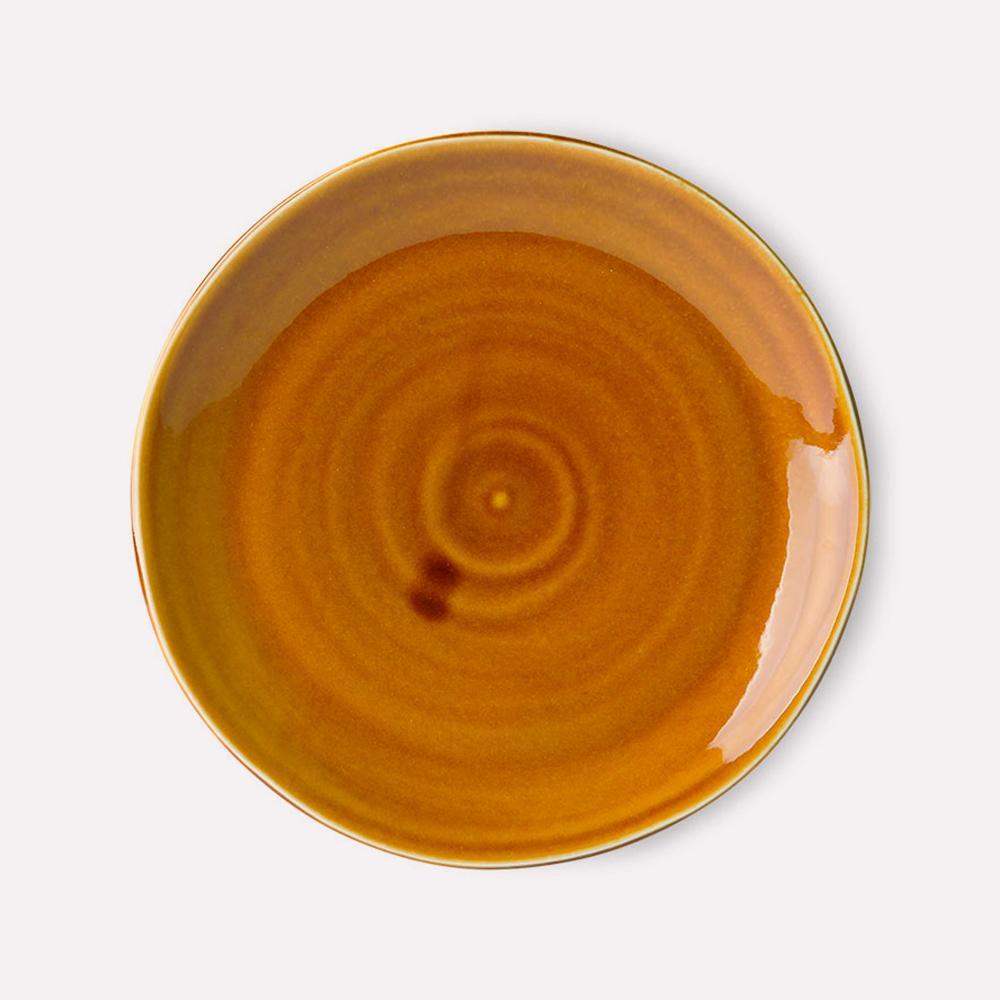 Plato Kyoto Ceramics Grande PORCELANA Esmalte AZAFRAN