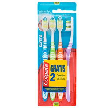 Colgate Cepillo Dental Extra Clean Pack 4u