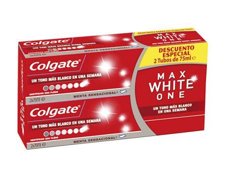 Colgate max white one 75ml pack 2u