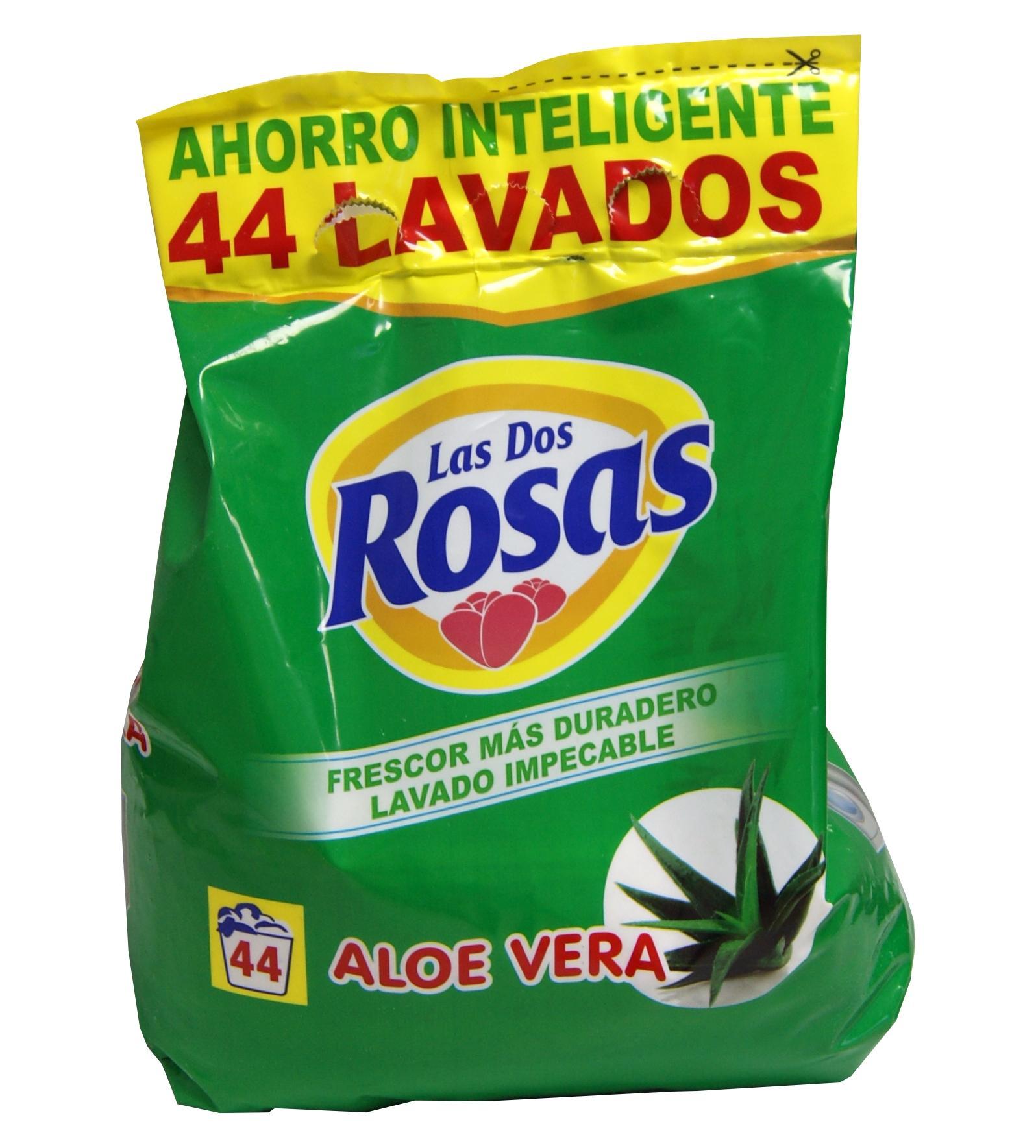 Las 2 Rosas Detergente Aloe Vera 44d Bolsa 3 kg