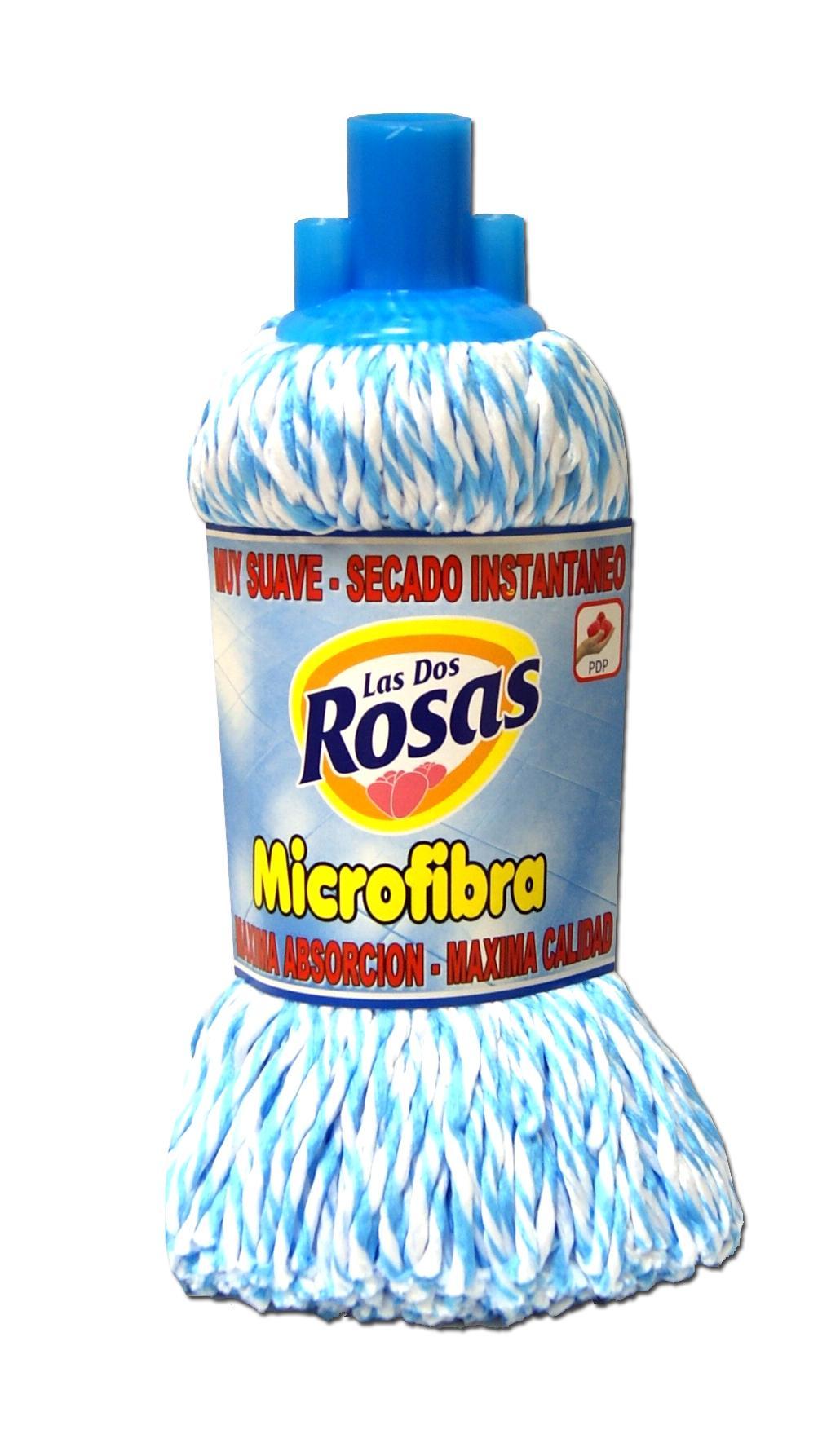 Las 2 Rosas Fregona Microfibra Azul-Blanca