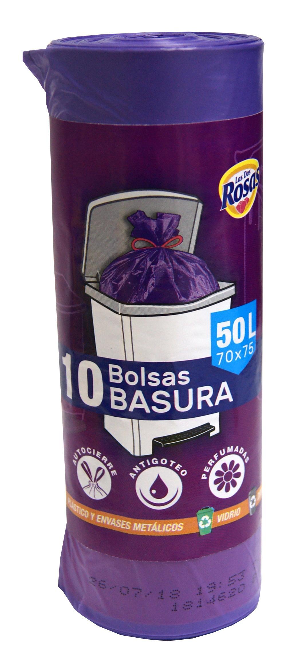 Las 2 Rosas bolsa basura 50L 10u