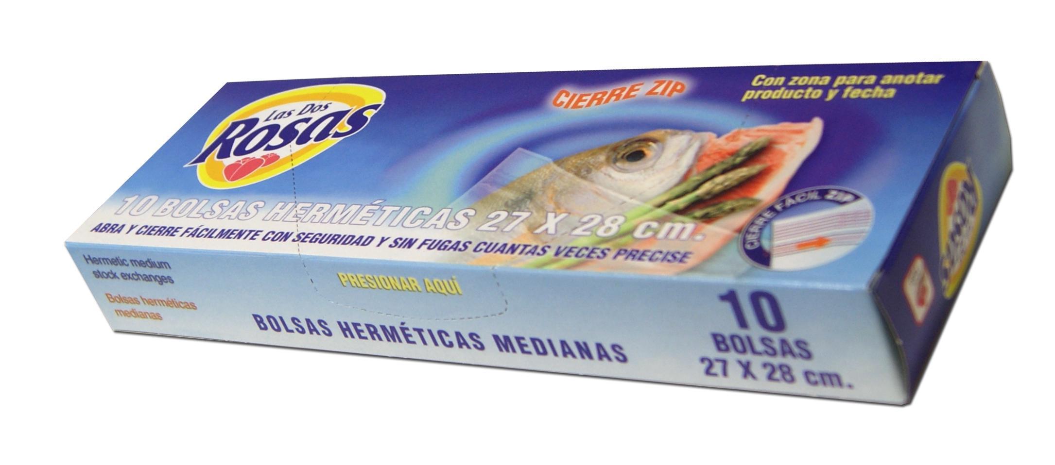 Las 2 Rosas bolsas 27x28 cm 10u