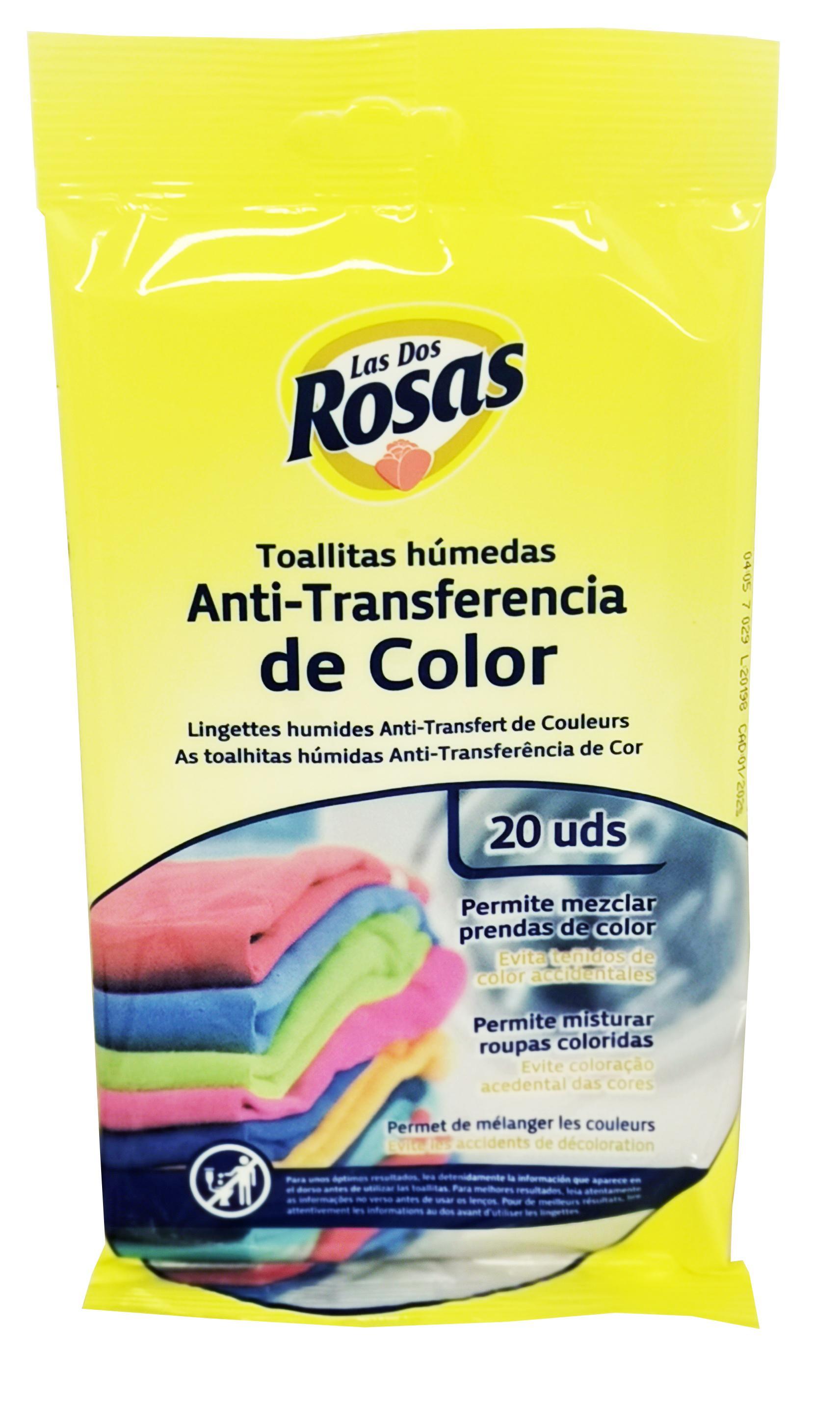 Las 2 Rosas Toallitas Color Húmedas