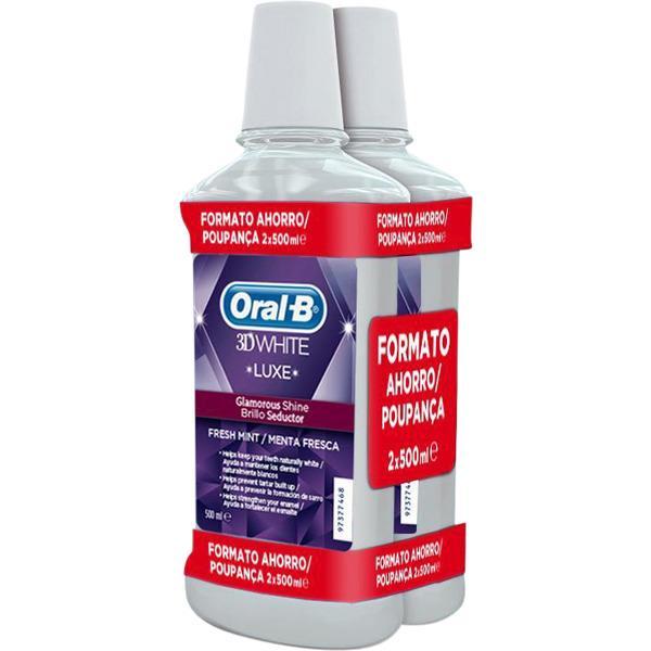Oral B liquido 3D White 500ml pack 2u