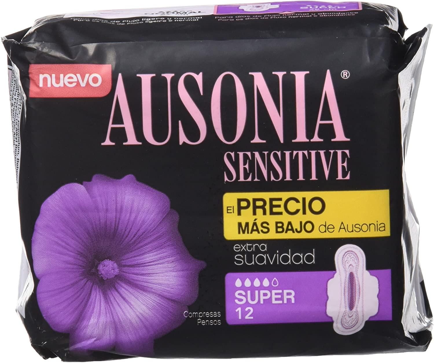 Ausonia Compresa Sensitive Super  alas 12u
