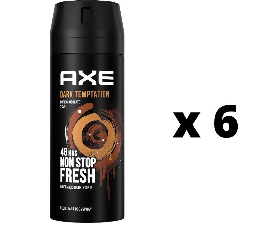 Axe Desodorante Dark Temptation 150ml Pack 6 unidades