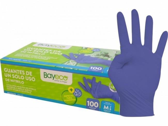 Bayeco Guantes Nitrilo Azul Talla L 100u
