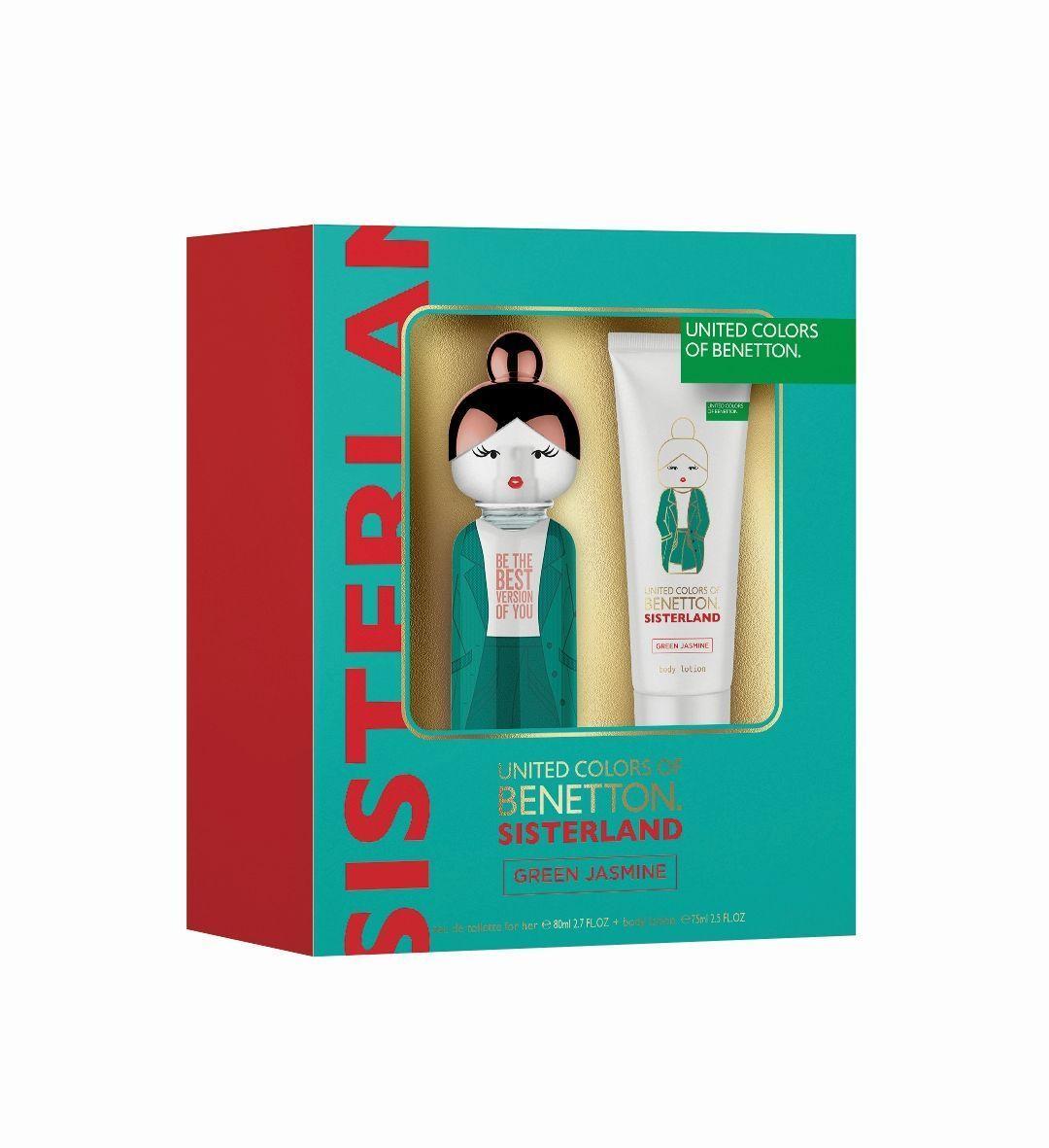 Benetton Sisterland Colonia Green Jasmine Set 80ml Vaporizador + Body Milk 75ml