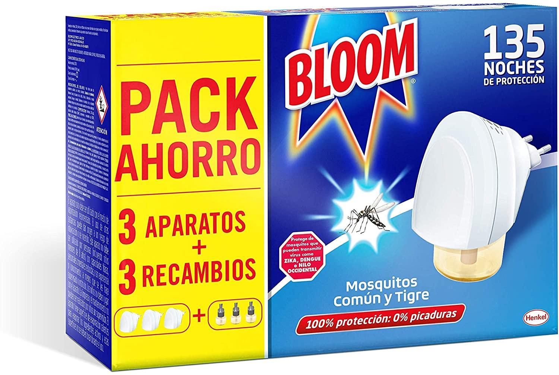 Bloom Insecticida Eléctrico Pack 3 Aparatos + 3 Recambios