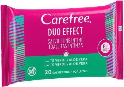 Carefree Toallitas Duo Effect 20u