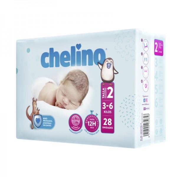 Chelino Pañales T-2  3-6 Kg  28u