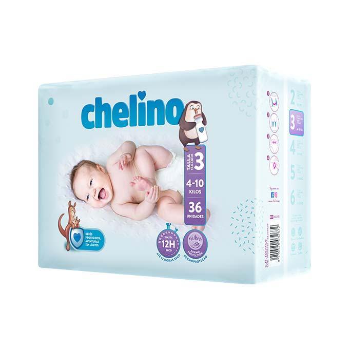 Chelino Pañales T-3  4-10 Kg  36u