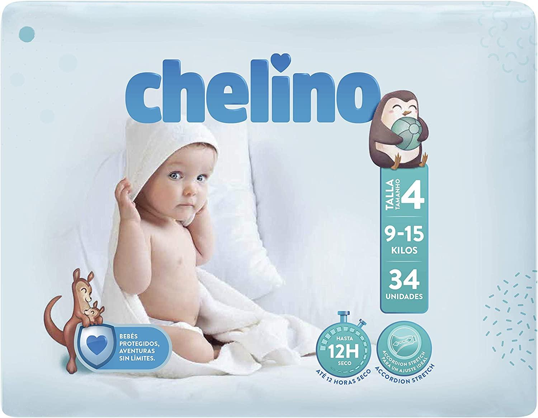 Chelino Pañales T-4  9-15 kg   34u
