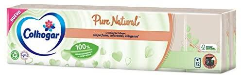 Colhogar Pañuelos Compactos Pure Natural 12 Paquetes