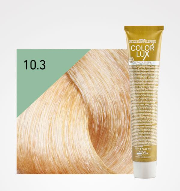 Color Lux 10.3 Rubio Platino Dorado 100ml + Agua Oxigenada