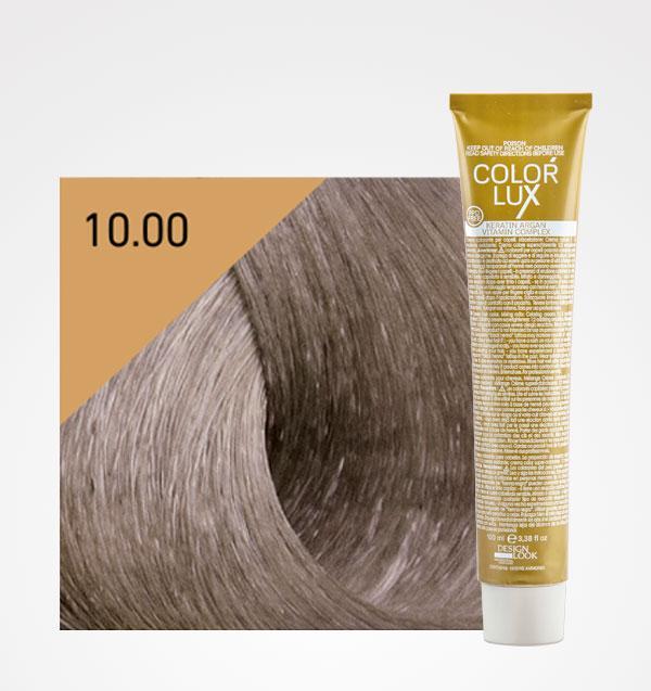 Color lux 10.0 Rubio Platino + Agua Oxigenada