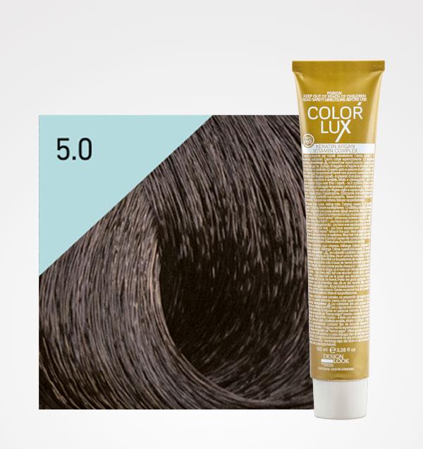 Color lux 5.0 Castaño Claro + Agua Oxigenada