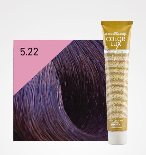 Color lux 5.22 Castaño Claro Violeta Intenso + Agua Oxigenada