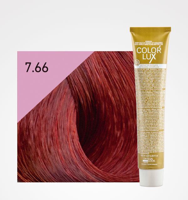 Color lux 7.66 Rubio Rojo Intenso + Agua Oxigenada