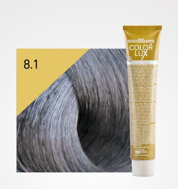 Color lux 8.1 Rubio Claro Ceniza + Agua Oxigenada