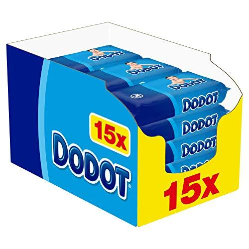 Dodot Toallitas c/ Tapa 64u azul pack 15 unidades