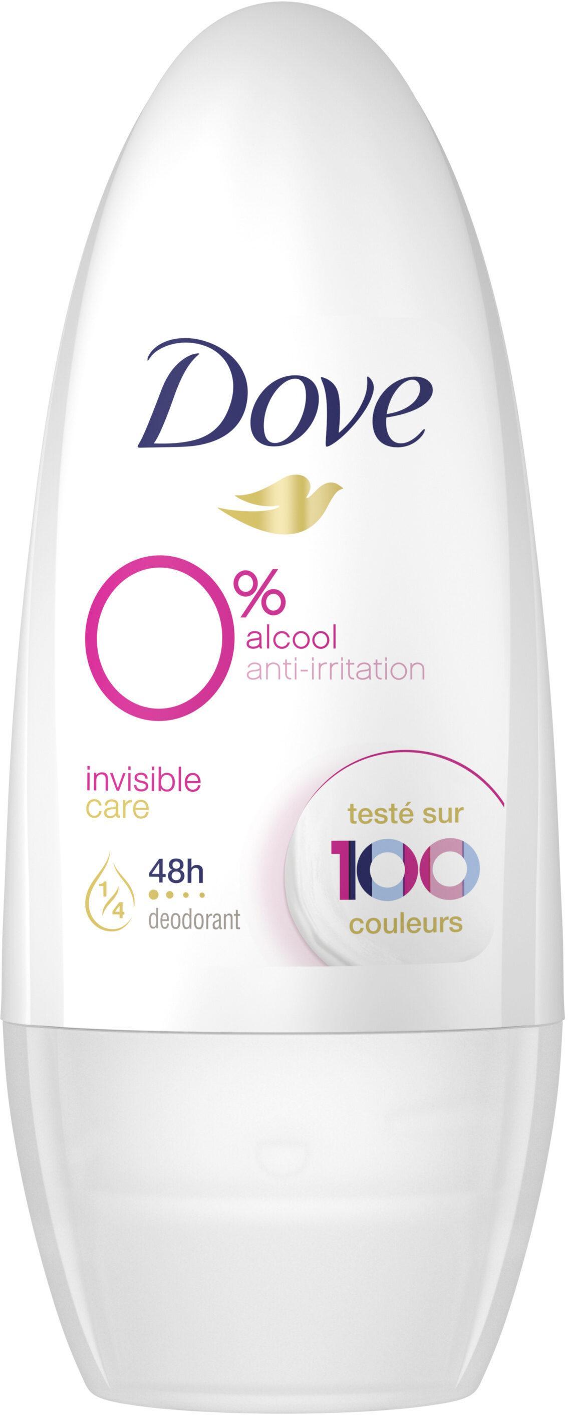 Dove Desodorante Roll-on Invisible 0% 50ml