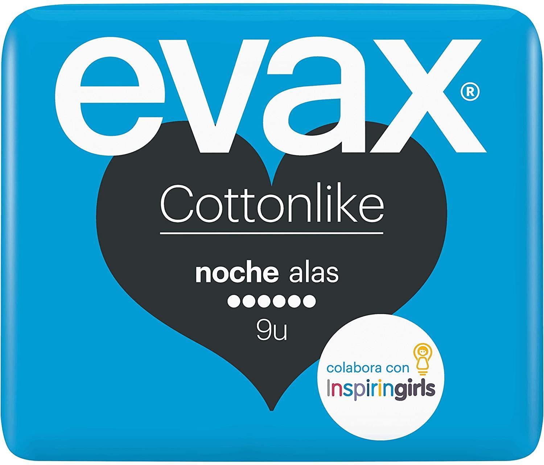 Evax Compresas Noche Alas 9u