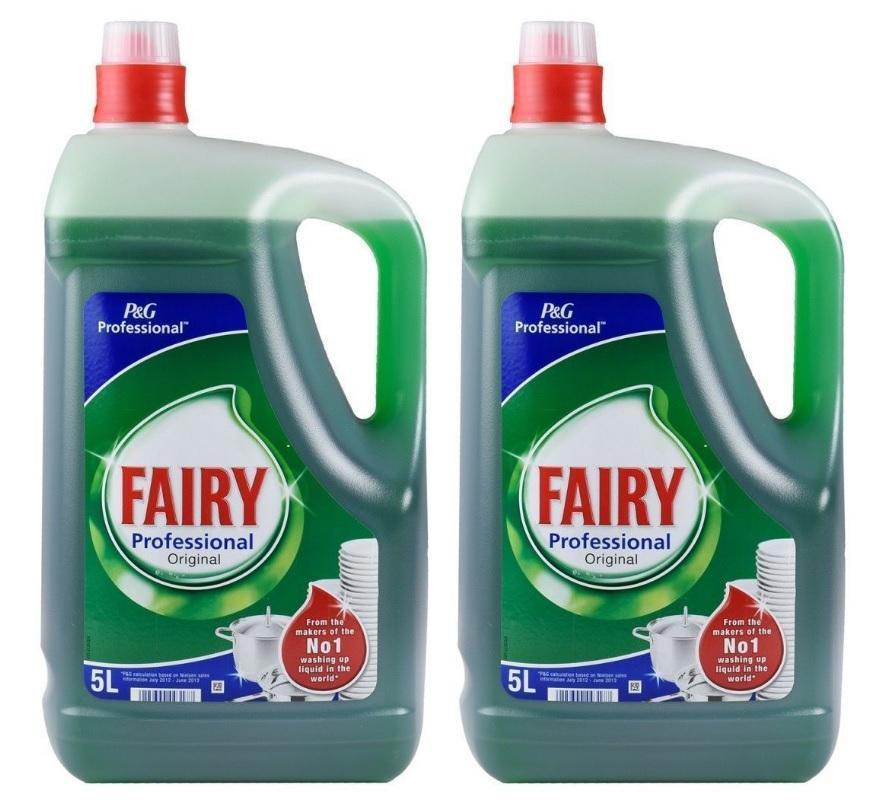 Fairy Vajillas Profesional 5 Litros Pack 2 Unidades