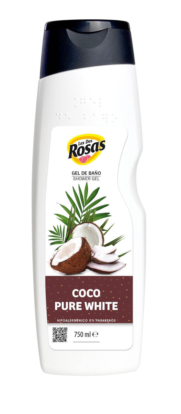 Las 2 Rosas Gel Ducha Coco Pure White 750ml