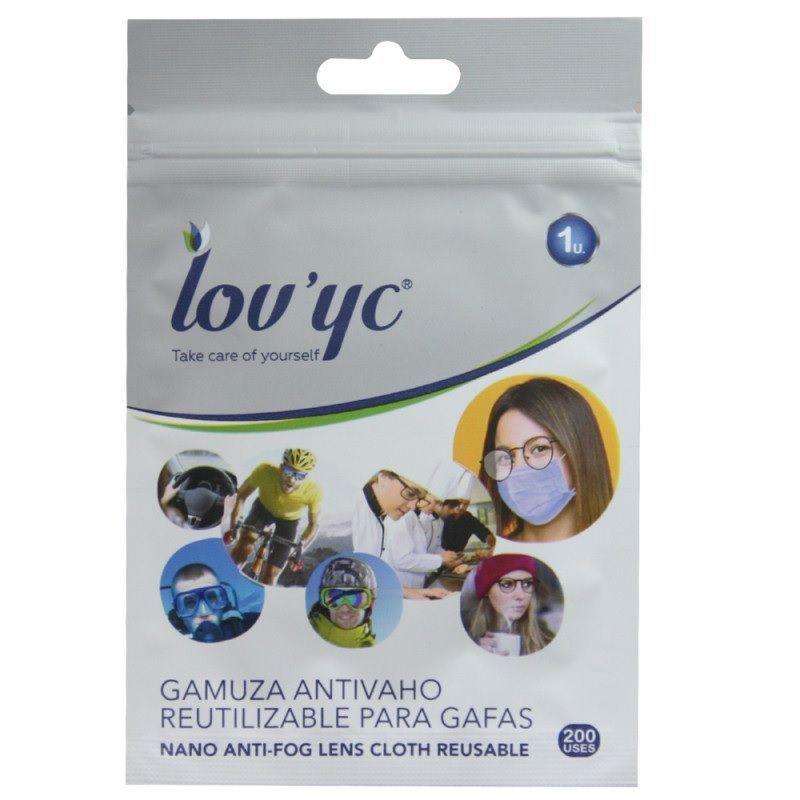 Lov`yc Gamuza anti-vaho reutilizable para gafas 200 usos