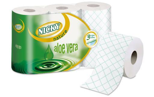Nicky Papel Higiénico 3 capas Aloe 6r