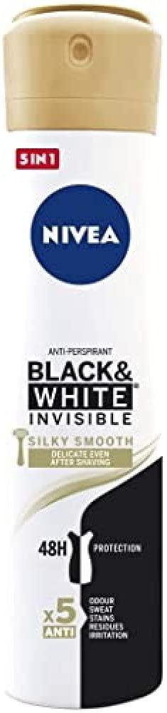 Nivea Desodorante Spray Black&White Silky Smooth 200ml