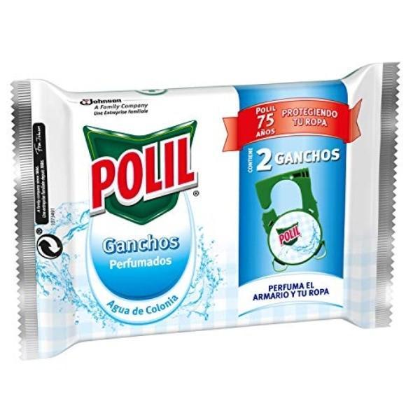 Polil Gancho Antipolillas Perfume Agua de Colonia 2u