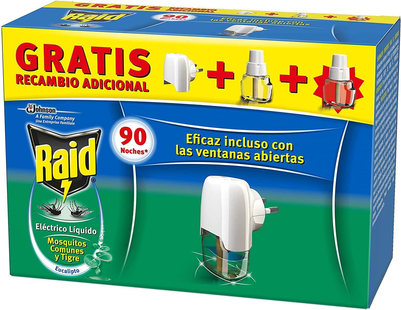 Raid Insecticida Eléctrico Eucalipto Aparato + 2 Recambios