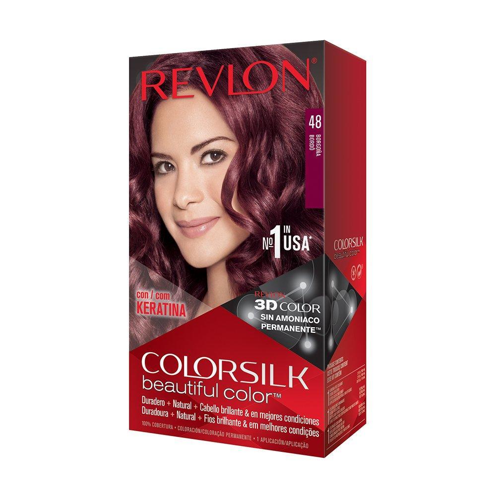 Revlon Colorsilk Sin Amoniaco 48 Borgoña