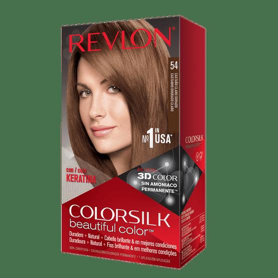 Revlon Colorsilk Sin Amoniaco 54 Castaño Claro Dorado