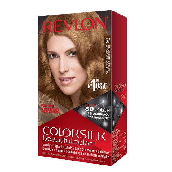 Revlon Colorsilk Sin Amoniaco 57 Castaño Dorado Muy Claro