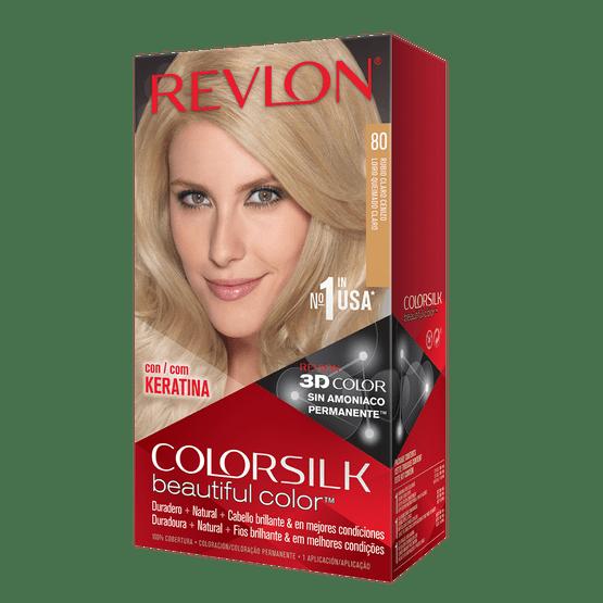 Revlon Colorsilk Sin Amoniaco 80 Rubio Claro Cenizo