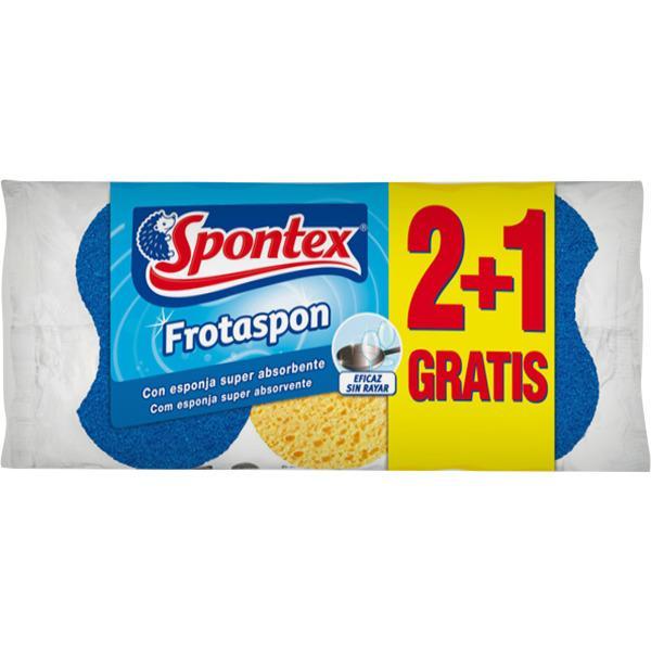 Spontex Estropajo Frotaspon Azul 2+1u