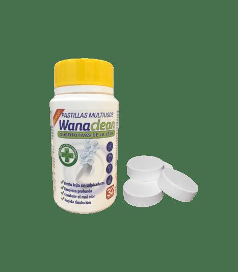 Wana Clean Lejía + Detergente 32 Pastillas