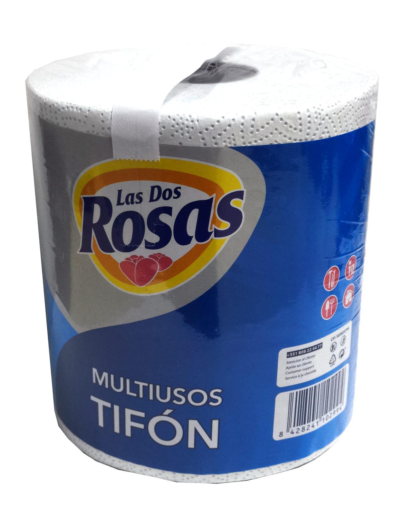Las 2 Rosas Bobina Papel Cocina Tifón