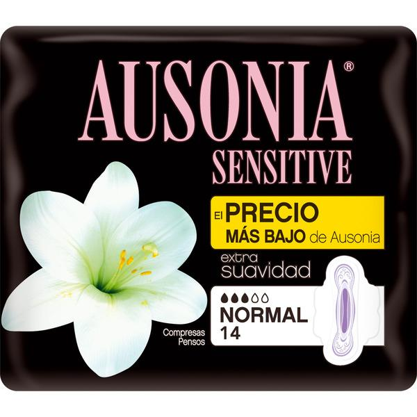 Ausonia  Compresas Sensitive normal  alas 14u