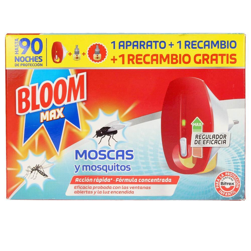 Bloom Electrico Moscas y Mosquitos 1 Aparato + 2 recambios