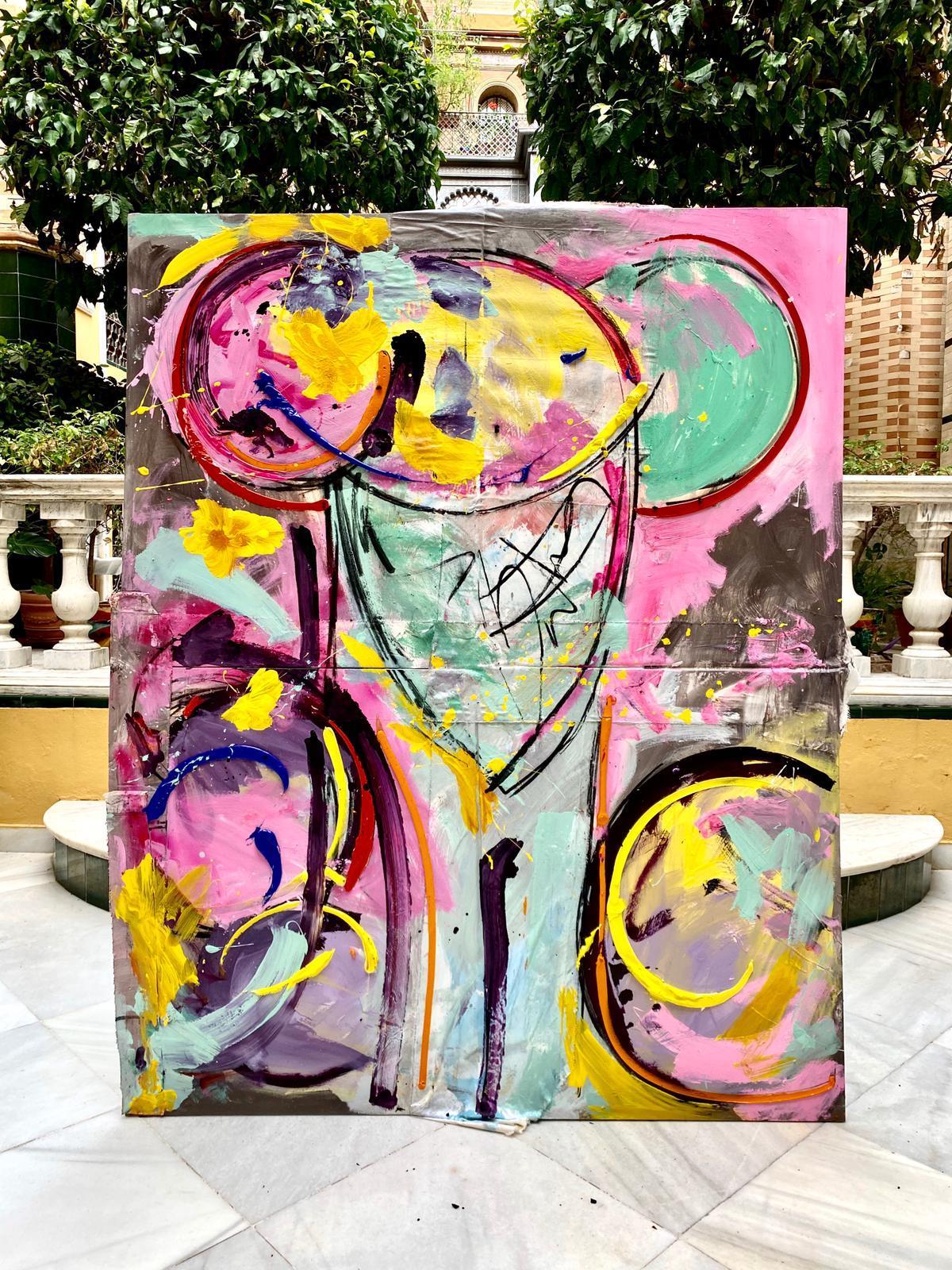 Torero óleo políptico 180x140 cm lienzo