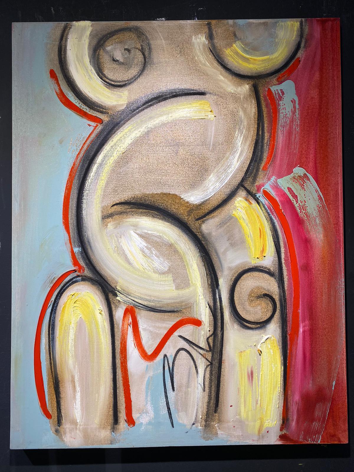 Desnudo óleo Balcris 90x70 lienzo