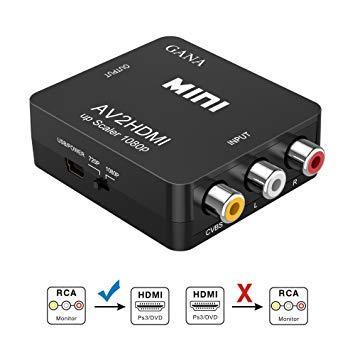 RCA A HDMI ADAPTADOR CONVERSOR DE AV A HDMI