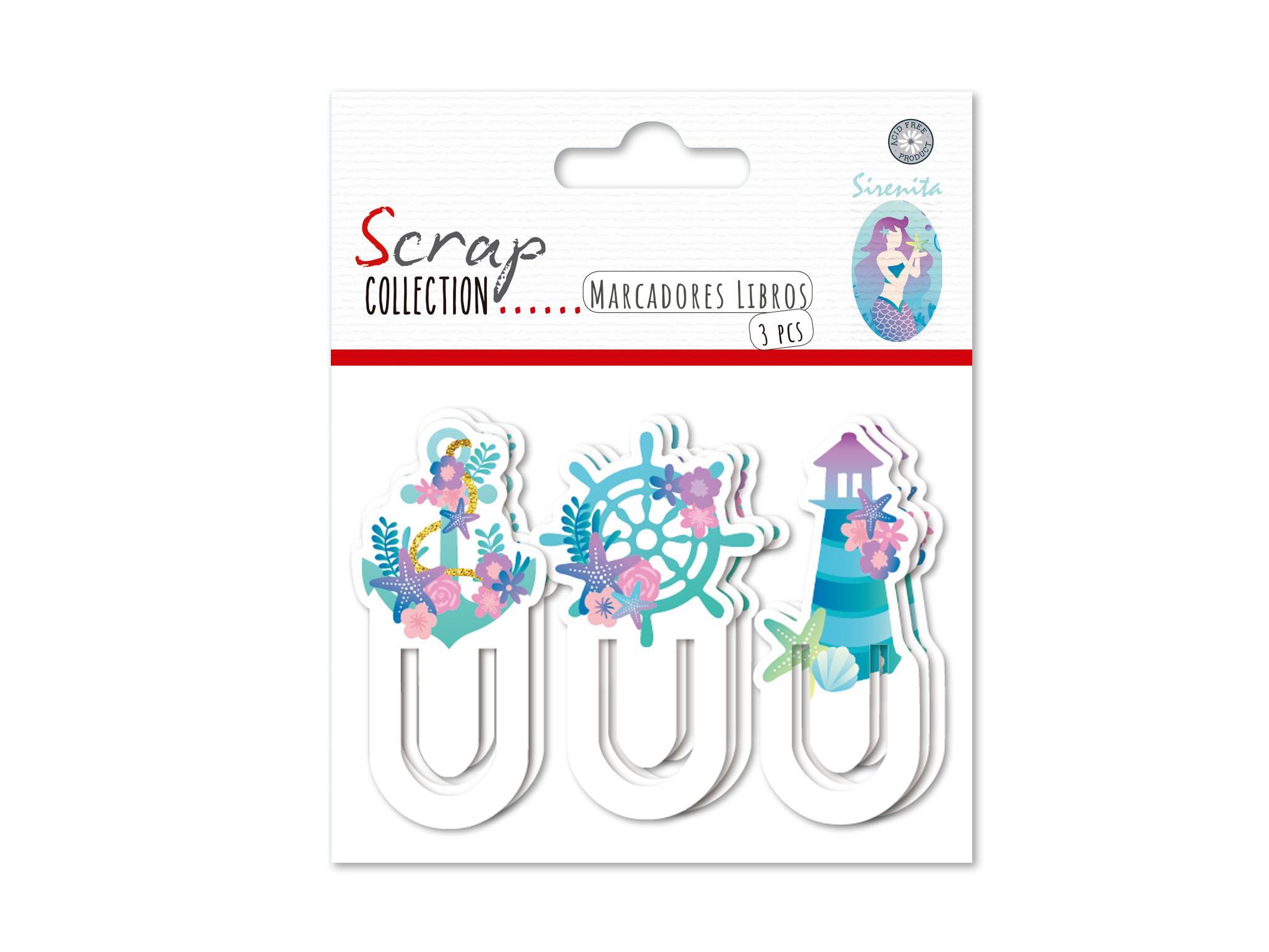 SCRAP-COLLECTION-MARCADORES-LIBRO-SIRENITA