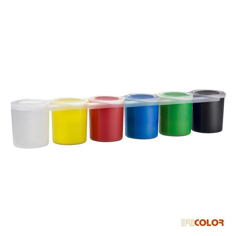 Caja-6-tarros-de-témpera-de-colores-25ml-milan